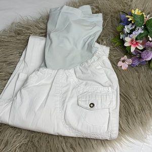 Motherhood Maternity Adjustable Length Cargo Pants